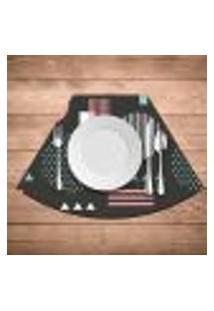 Jogo Americano Para Mesa Redonda Wevans Abstract Circulos Kit Com 6 Pçs