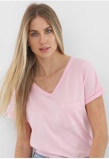 Camiseta Gap Bolso Rosa
