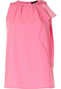 Paule Ka Bow Detail Sleeveless Blouse - Rosa