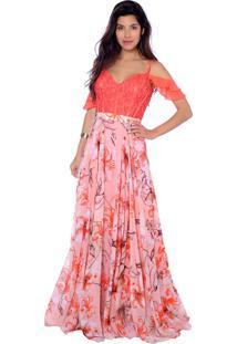 ae5b4423d Vestido Coral Festa feminino | Shoelover