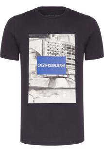Camiseta Masculina Paisagem Taxi - Preto
