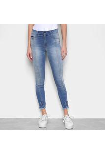 Calça Jeans Biotipo Skinny Média Recortes Feminina - Feminino