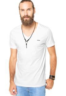 Camiseta Sommer Bordado Branca