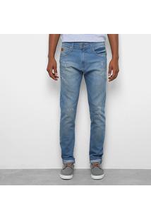 Calça Jeans Slim Colcci Pedro Estonada Masculina - Masculino