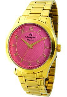 Relógio Analógico Champion Cn27723L Feminino - Feminino-Dourado