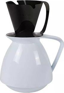Bule Térmico Amare E Suporte Para Coador De Café - Amábile Preto Com Branco