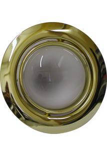 Spot Embutido Dirigível E-27 60W Com Lâmpada Refletora 127V - Dourado
