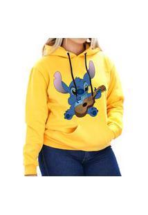Blusa Moletom Canguru Little Stitch Unissex Amarelo