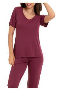Pijama Longo Liganete Sepie (1052) Vinho