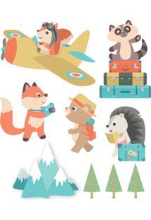 Adesivo De Parede Animais Viajantes