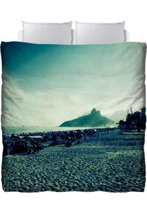 Edredom Colours Creative Photo Decor - Paisagem Da Praia De Ipanema No Rio De Janeiro Azul