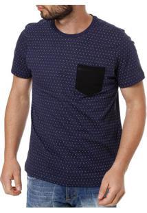 Camiseta Manga Curta Masculina Vels Azul