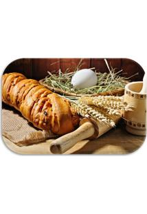 Tapete Decorativo Lar Doce Lar Breads 40Cm X 60Cm Marrom