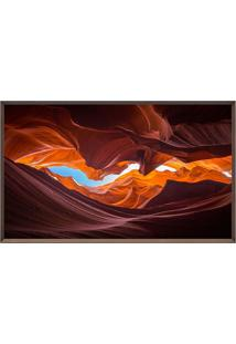 Quadro Decorativo AntãLope Canyon- Marrom Escuro & Laranarte Prã³Pria
