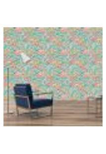 Papel De Parede Adesivo - Flamingos - Folhas - 076Pps