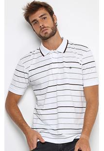 Camisa Polo Forum Piquet Listras Masculina - Masculino
