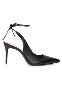 Scarpin Lace Up - Preto
