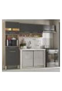 Cozinha Compacta 3 Peças Dama 99101 Avena Grafito Demobile