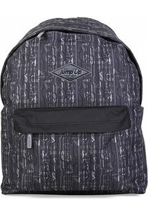 Mochila Holly Jump Up School - Unissex-Preto