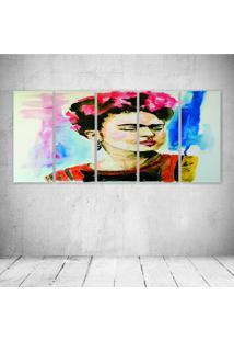 Quadro Decorativo - Frida Paint.Jpeg - Composto De 5 Quadros - Multicolorido - Dafiti