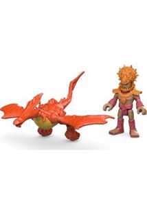 Imaginext Figura Pterodactyl Com Figura Mattel
