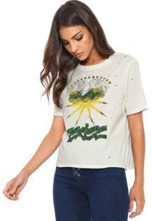 Camiseta Ellus Lightfine Originals Off-White