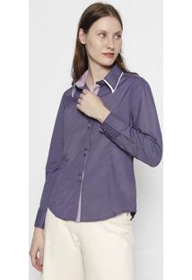 Camisa Listrada- Roxa & Rosaclub Polo Collection