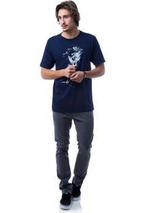 Camiseta Zero Medieval Masculina - Masculino-Marinho