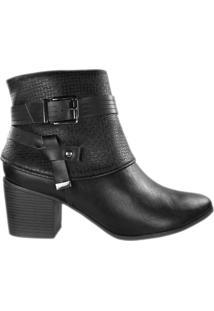 Bota Ramarim Ankle Boot Feminina Preto - 33