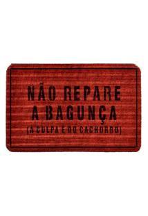 Capacho Carpet Náo Repare A Bagunça Vermelho Único Love Decor