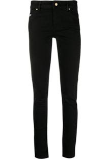 Versace Jeans Couture Mid-Rise Skinny Jeans - Preto