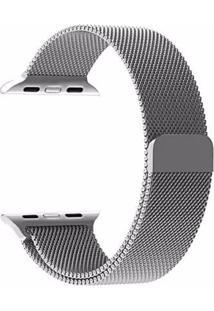 Pulseira Milanês Para Apple Watch 38Mm Aço Inoxidável Prata