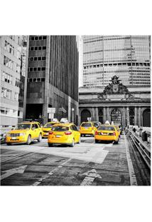 Placa Decorativa Taxis- Preta & Amarela- 25X25Cmkapos
