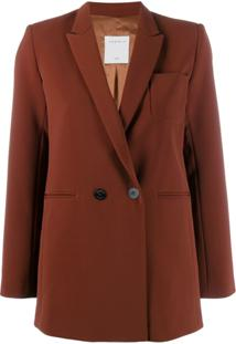 Sandro Paris Double Breasted Blazer - Marrom