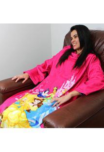 Cobertor Com Mangas Princesas Disney - Zona Criativa