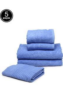 Jogo De Banho 5Pçs Buddemeyer Carmel Azul