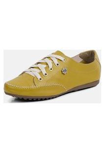 Tênis Torani Sapatênis Casual Amarelo