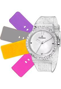 Relógio Feminino Champion Troca Pulseiras Cp38086R - Unissex-Incolor