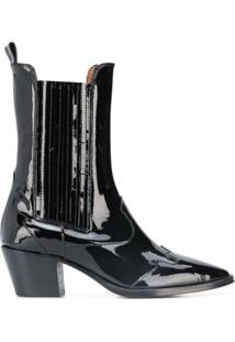 Paris Texas Ankle Boot Bico Fino - Preto