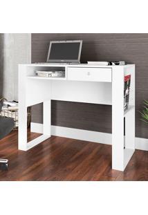 Mesa Para Computador Com 1 Gaveta E 2 Prateleiras Paris Es900 - Art In Móveis - Branco