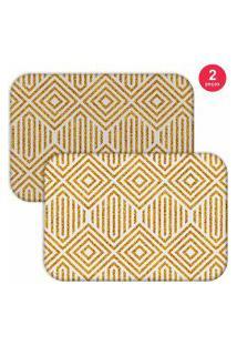 Jogo Americano Love Decor Abstract Yellow Amarelo