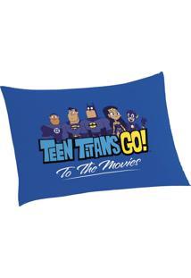 Fronha Avulsa Teen Titans Go Azul - Lepper