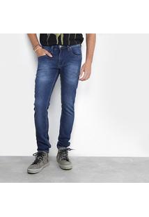 Calça Jeans Reta Redley Stone Masculina - Masculino-Jeans