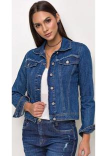 Jaqueta Jeans Express Britney Spears Feminina - Feminino-Azul