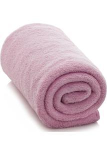Cobertor Infantil Baby Liso Rosa