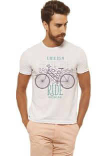 Camiseta Joss - Life Is A - Masculina - Masculino-Branco