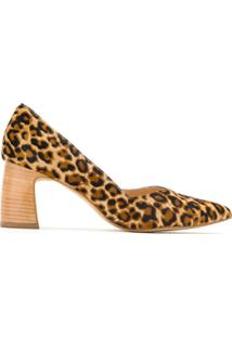 Serpui Scarpin Animal Print Salto Bloco - Estampado
