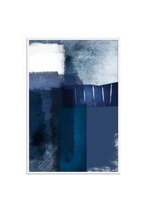 Quadro 90X60Cm Abstrato Textura Eskuila Moldura Branca Com Vidro Oppen House