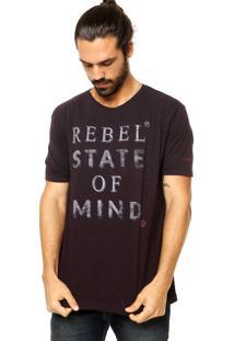 Camiseta Vila Romana Estampa Roxa