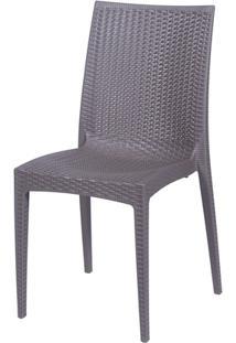 Cadeira Rattan Polipropileno Café